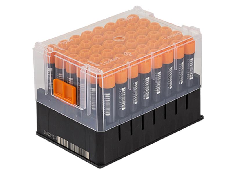 Barcoded empty rack base/24 for 3.8ml FluidX cryovials